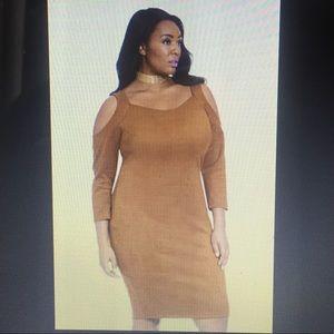Brown suede dress 1XL